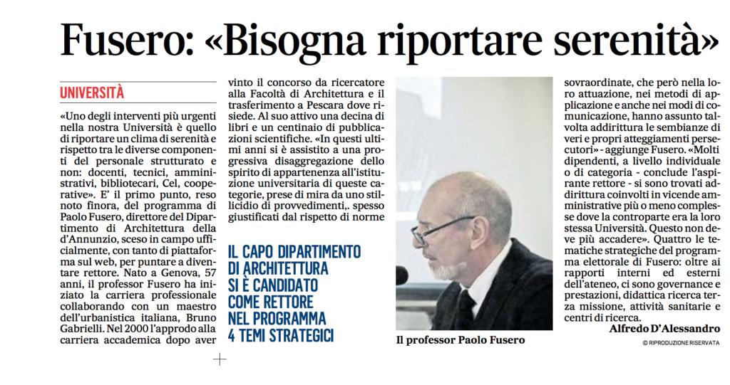 Paolo Fusero Il Messaggero 29.03.17