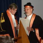 Ettore Spalletti e Paolo Fusero : laurea honoris causa in Architettura - Cerimonia della consegna della pergamena